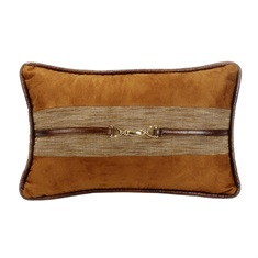 Highland Lodge Suede Buckle Pillow