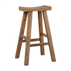 Holt Elm Wood Bar Stool