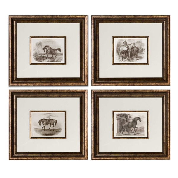 Horses Framed Art Set/4