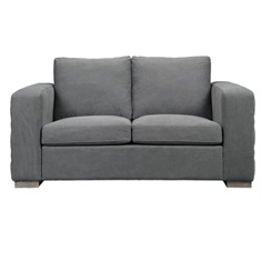 Inari Stonewashed Gray Loveseat