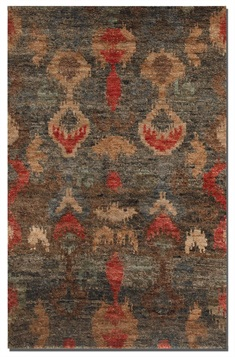 Java Ikat Hand Knotted Rug Swatch