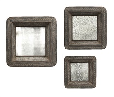 Jezant Mirror Tray Wall Décor - Set of 3