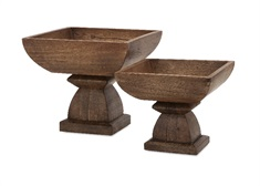 Julian Wood Pedestals - Set of 2