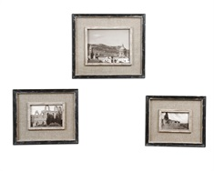 Kalidas Cloth Lined Photo Frames, Set/3