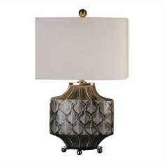 Kavala Crackled Charcoal Lamp