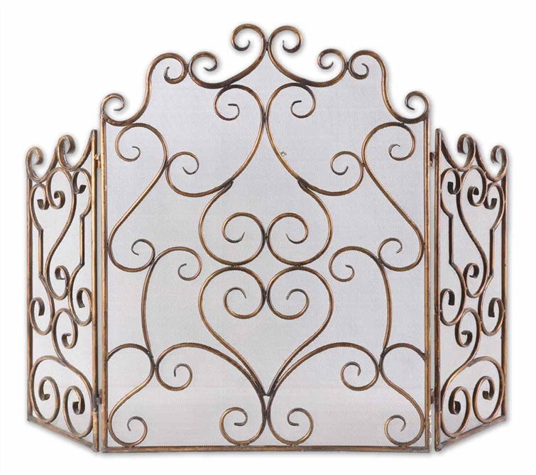 Fireplace Design metal fireplace screen : Fireplace Screens and Accessories | TotalDecorStore.Com