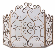Kora Metal Fireplace Screen