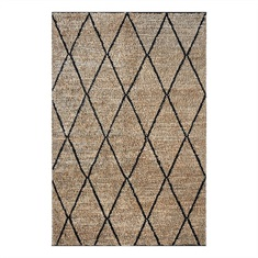 Larson Charcoal Diamon Design Rug Swatch