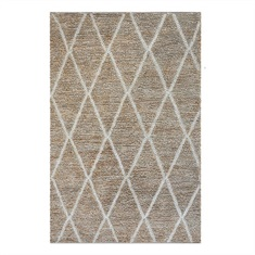 Larson Ivory Diamond Design Rug Swatch
