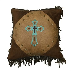 Las Cruces II Embroidered Cross Pillow