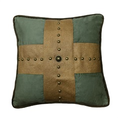 Las Cruces II Studded Cross Pillow