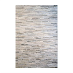 Livia Pearl Gray Striped Rug Swatch
