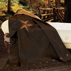 Laredo Embroidered Star Throw