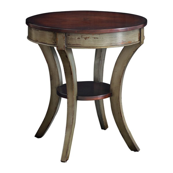Loukas Wooden Lamp Table