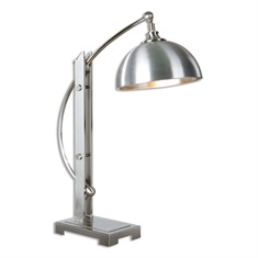 Malcolm Brushed Nickel Desk Lamp