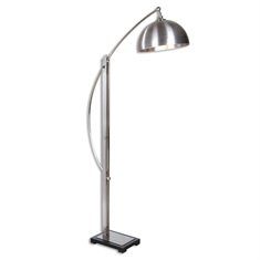 Malcolm Brushed Nickel Floor Lamp