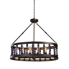 Mandrino 4 Light Oval Chandelier