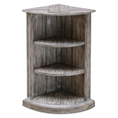 Manon Wooden Corner Shelf