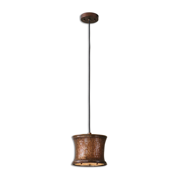 Marcel Copper Mini Drum Pendant