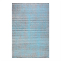 Medanos Aqua Gray  Striped Rug Swatch