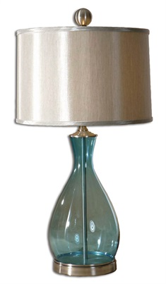 Meena Blue Glass Table Lamp