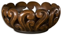 Merida Wood Tone Decorative Bowl