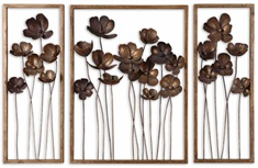 Metal Tulips Wall Art Set/3