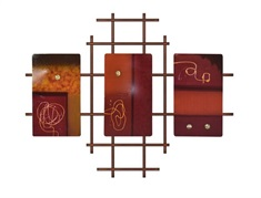 Metro Wall Art w/ 3 Horizontal Metal Panels