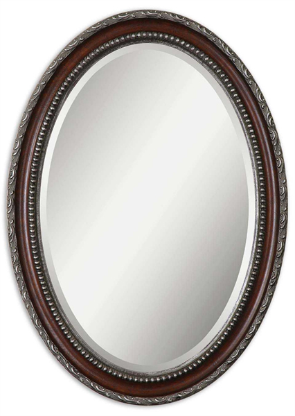 Montrose Oval Silver Mirror