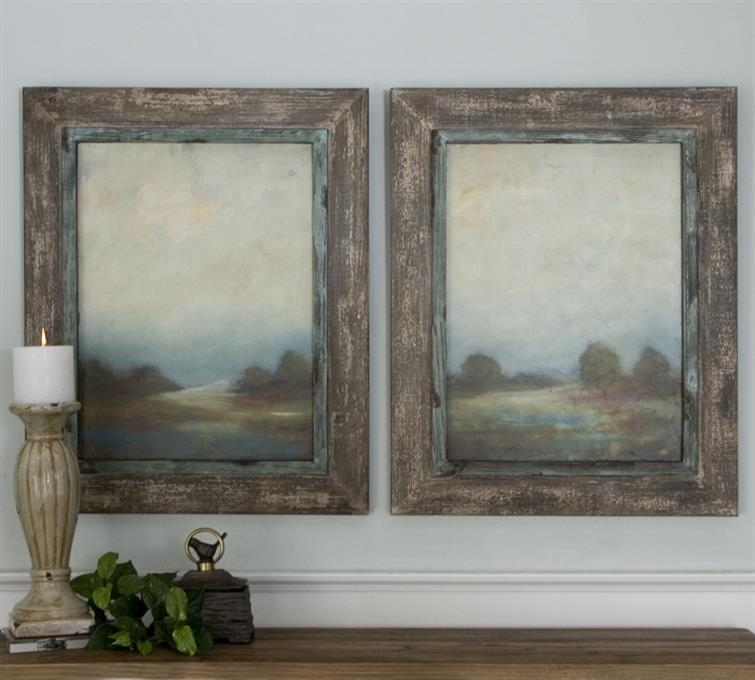 Morning Vistas Framed Art, S/2