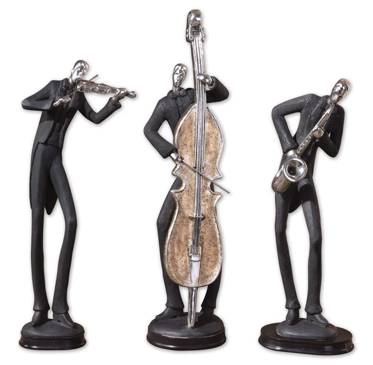 musicians decorative figurines set 3 uttermost item 19061