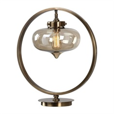 Namura Antiqued Brass Accent Lamp
