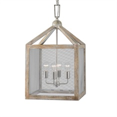 Nashua 4 Light Wooden Lantern Pendant
