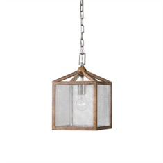 Nashua Wooden 1 Light Mini Pendant