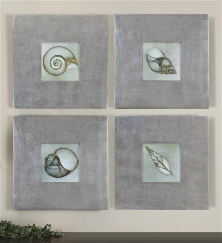 Neptunes Garden Framed Art Set/4