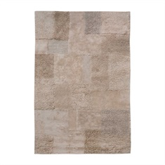 Nevada Dark Beige Hand Tufted Rug Swatch
