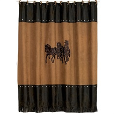 Ocala II Emb. 3 Horse Shower Curtain