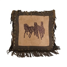 Ocala II Emb. Running Horse Pillow