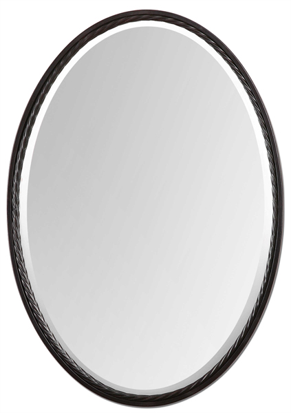 Oil Rubbed Bronze Oval Mirror