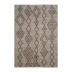 Onam Brown Tribal Design Rug Swatch