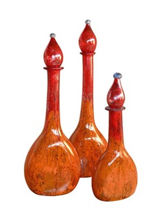 Orange Burst Bottle Set of 3