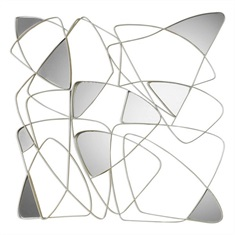 Oswin Abstract Mirrored Wall Art