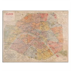 Paris Nouveau Plan Giclee Artwork