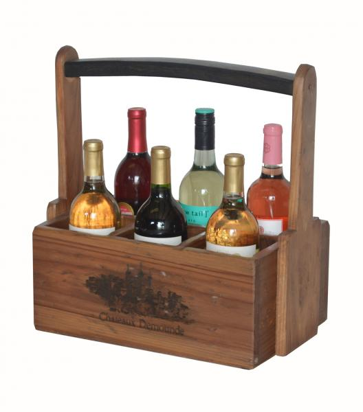 Personalized Six Bottle Caddy