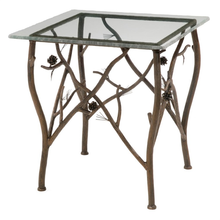 Pine Iron Side Table