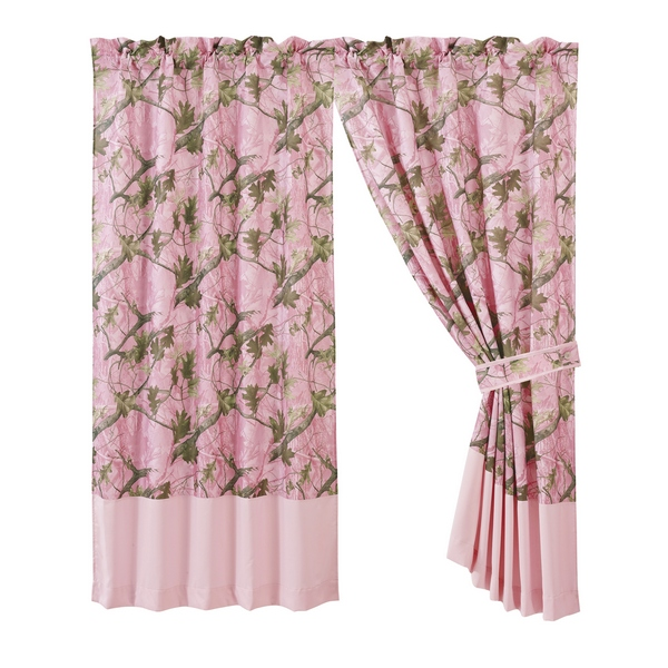 Pink Camo Curtain (Pair)