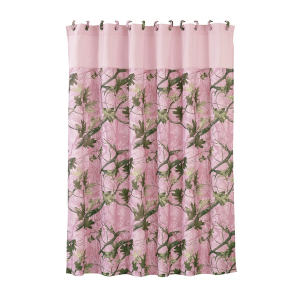Pink Camo Shower Curtain