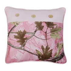 Pink Camo Square Pillow