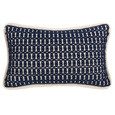 Prescott Navy Monterrey Rope Embroidery Pillow