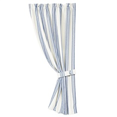 Prescott Navy Navy Striped Curtain